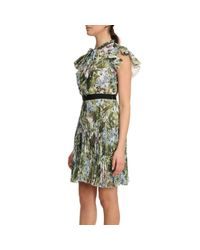 Pinko - Green Dress Women - Lyst
