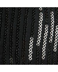 La Perla - Black Sequin Soutache Triangle Bikini Top - Lyst