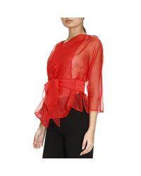 Armani - Red Blazer Women - Lyst