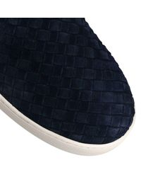 Bottega Veneta - Blue Dodger Intrecciato Slip-on Suede Sneakers for Men - Lyst