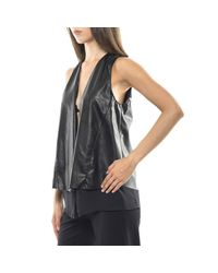 Hanita - Black Waistcoat Women - Lyst