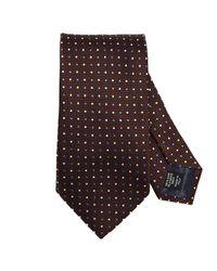 Ermenegildo Zegna - Brown Tie Men for Men - Lyst