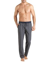 Hanro - Blue Aristide Print Long Pants for Men - Lyst