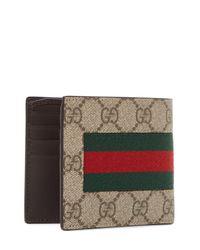 Gucci Natural Web GG Supreme Coin Wallet for men