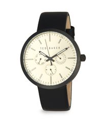 Ted Baker - Black Multifunction Analog Watch - Lyst