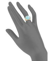 Roberto Coin - Blue Diamond, Agate And 18k Rose Gold Triplet Round Ring - Lyst