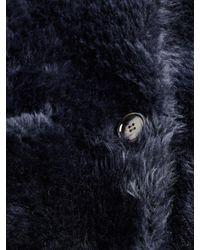 Helmut Lang - Blue Teddy Long Coat - Lyst