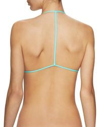 L*Space - Blue Lexie Wrap Triangle Bikini Top - Lyst