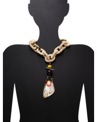 Alexis Bittar - Multicolor Lucite Raffia Link Statement Necklace - Lyst