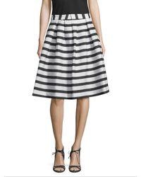 Armani Exchange - White Stripe Flare Skirt - Lyst
