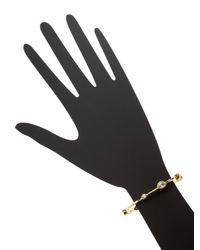 Kenneth Jay Lane   Metallic Alternating Spaced Bangle Bracelet   Lyst