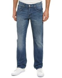 Hudson - Blue Byron Medium Wash Straight Leg for Men - Lyst