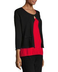 ESCADA - Black Cotton Cropped Jacket - Lyst