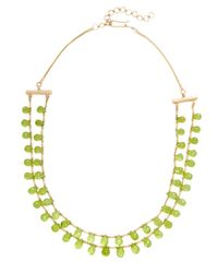 Jyoti New York - Multicolor Silver & Peridot Bead Necklace - Lyst