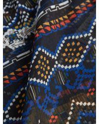 Plenty by Tracy Reese - Black Printed Crewneck Tie Top - Lyst