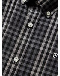 Victorinox - Gray Bismarck Checkered Button Down Sportshirt for Men - Lyst