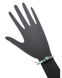 Chan Luu - Blue Matte African Turquoise, Amzonite, Turquoise, Titanium Pyrite & Sterling Silver Bracelet - Lyst