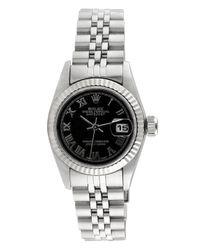Rolex - Metallic Vintage Ladies Stainless Steel Datejust Watch, 26mm - Lyst