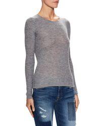Sea Bleu - Gray Cashmere Fine Ribbed Crewneck Sweater - Lyst