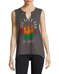 Project Social T - Multicolor Distressed Cotton Tank Top - Lyst