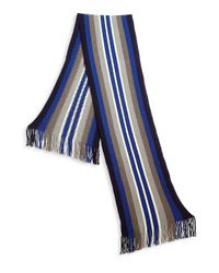 Saks Fifth Avenue - Blue Collection Striped Wool Blend Scarf - Lyst