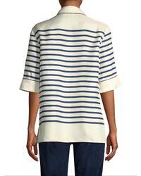 Dolce & Gabbana - White Stripe Blouse - Lyst