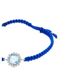 Anzie - Boheme Blue Macrame & Blue Topaz Bracelet - Lyst