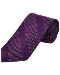 Cole Haan - Purple Kinsman Stripe Silk Tie for Men - Lyst