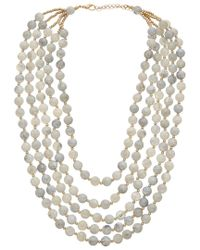 Kenneth Jay Lane - Metallic Plated Beaded Necklace - Lyst