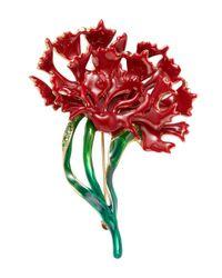 Oscar de la Renta - Multicolor Carnation Brooch - Lyst
