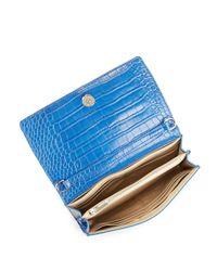 Sam Edelman White Gigi Embossed Leather Wallet