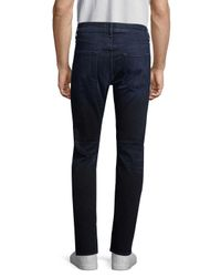 7 For All Mankind - Blue Straight Leg Jean for Men - Lyst
