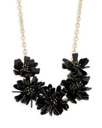 Natasha Couture - Black Crystal Floral Statement Necklace - Lyst
