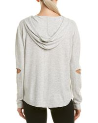 BLANC NOIR - Gray Clandestine Hooded Open-elbow Pullover Sweater - Lyst