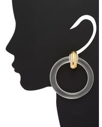 Kenneth Jay Lane - White Round Statement Earrings - Lyst