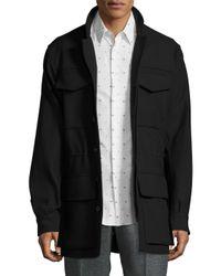 Jil Sander - Black Solid Flap Pocket Field Jacket for Men - Lyst