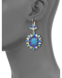 ABS By Allen Schwartz - Multicolor Jeweled Pendant Drop Earrings - Lyst