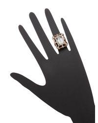Suneera - Metallic Plated Pave Ring - Lyst