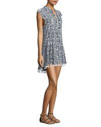 Poupette - Black Heni Tasseled Mini Dress - Lyst