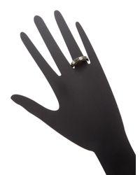 Rina Limor - Multicolor Black & White Diamond Dot Ring - Lyst