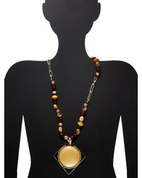 Alexis Bittar - Metallic Lucite Beaded Strand Geometric Pendant Necklace - Lyst