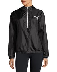 PUMA - Black Graphic Half-zip Jacket - Lyst
