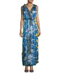 Romance Was Born - Blue Rococo Plume Robe Gown - Lyst