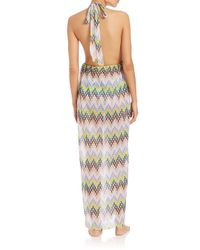 MILLY - Multicolor Chevron Print La Spezia Cotton Maxi Dress - Lyst