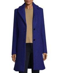 T Tahari - Blue Tessa Wool-blend Jacket - Lyst