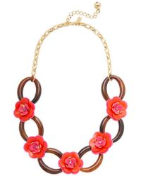 Kate Spade - Multicolor Rosy Posies Link Necklace - Lyst