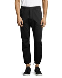 Den Im - Black Elasticized Cotton Jogging Pants for Men - Lyst