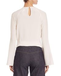Derek Lam - White Pleated Silk Blouse - Lyst