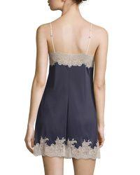 Natori - Blue Enchant Floral Lace Chemise - Lyst