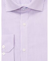 Vince Camuto - Purple Pinstripe Twill Slim Fit Cotton Dress Shirt for Men - Lyst